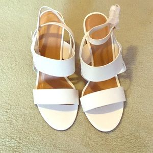 Bamboo white Heels NWOT